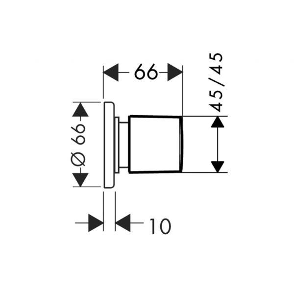 Запорный вентиль hansgrohe наружная часть 31677000