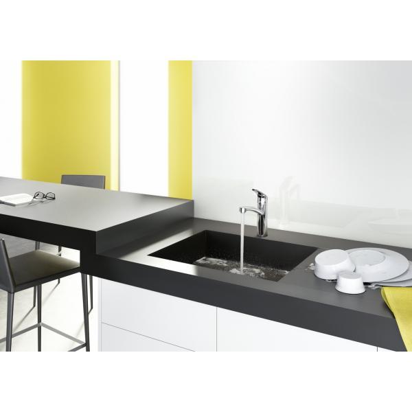 Смеситель hansgrohe Focus для кухонной мойки с поворотным изливом, сталь 31806800