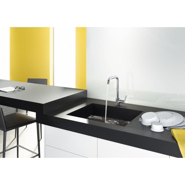 Смеситель hansgrohe Focus для кухонной мойки с поворотным изливом на 3 положения 31820800, под сталь