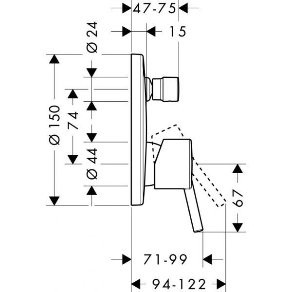 Смеситель hansgrohe Talis S для ванны 32475000