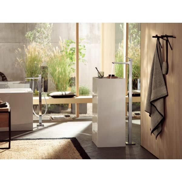 Смеситель hansgrohe Metropol для ванны однорычажный, напольный, с рычаговой рукояткой, хром 32532000