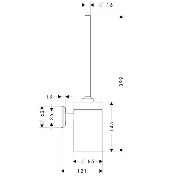 Набор для WC с держателем hansgrohe Logis Classic 41632000, хром