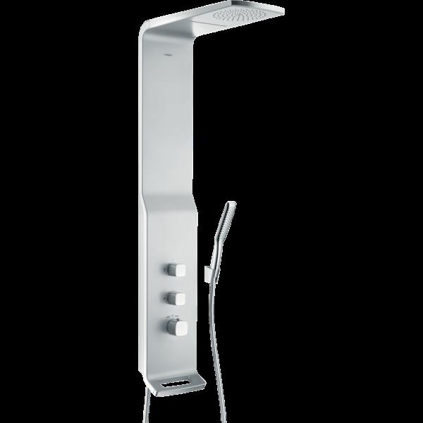 Душевая панель hansgrohe Raindance Lift 180 2jet с термостатом, матовый хром 27008000