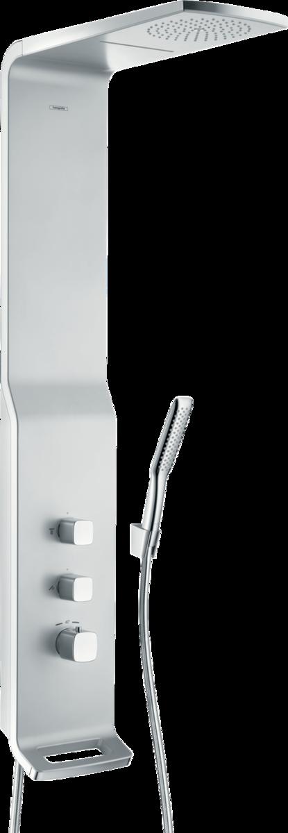 Душевая панель hansgrohe Raindance Lift 180 2jet с термостатом, матовый хром 27008000 стоимость
